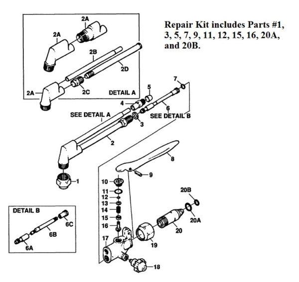 Ca1050 Victor 0390-0005 Repair Kit Misc.